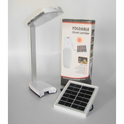 LAMPARA PORTATIL PLEGABLE ALL IN ONE CON CARGADOR DE CELULARES Y PANEL SOLAR